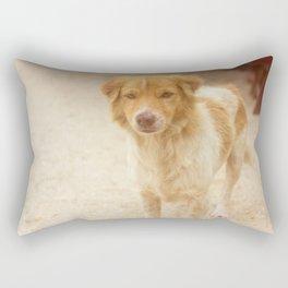Happy red dog Rectangular Pillow