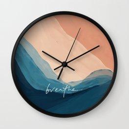 breathe. Wall Clock