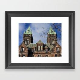 richardson towers, front. Framed Art Print
