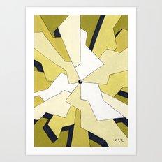 Mono Pattern | The Fragments Art Print