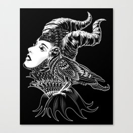 Maleficent Tribute Canvas Print