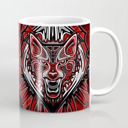 Wolf Tattoo Style Haida Art Coffee Mug