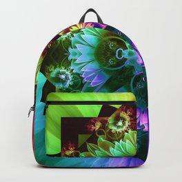 Fleur des Vents, Rainbow Fractal Flower of Winds Backpack