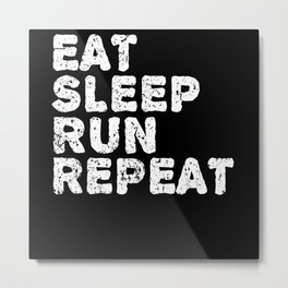 Running Marathon Runner Funny Saying Gift Metal Print