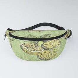 Walnuts Faded Lime Color Fanny Pack
