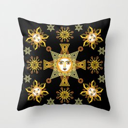 Snowflake Stars collection  by ©2018 Balbusso Twins Throw Pillow