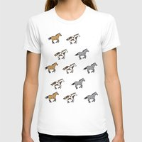 horses T-shirts featuring Horses by mleko