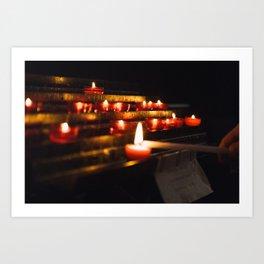 Light the fire Art Print