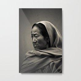 Nepalese woman of Sindhupalchowk, Nepal Metal Print