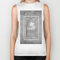 cage Biker Tanks featuring Cloud Cage by Mehdi Elkorchi