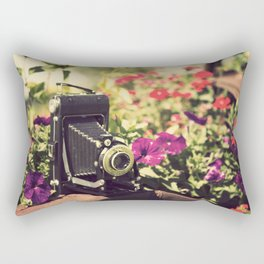 When I'm with  my camera , I know no fear.  Rectangular Pillow