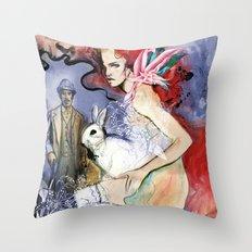 Brickred Jan Throw Pillow