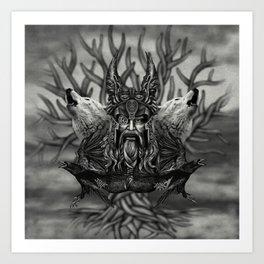 Odin -All-Father Art Print
