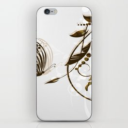 Butterfly Brown Butterfly In The Sun iPhone Skin