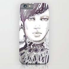 Fashion illustration in watercolors iPhone 6s Slim Case
