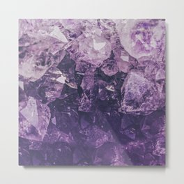 Amethyst Gem Dreams Metal Print