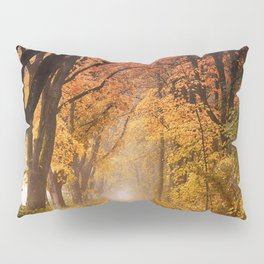 Autumn Fall Forest Path -  Nature Landscape Photography Pillow Sham