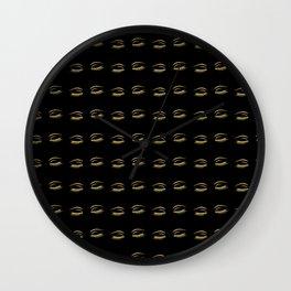 Eye Lashes in Black Wall Clock