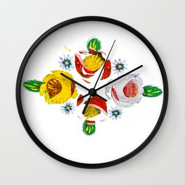 Canal roses of noproblem Wall Clock