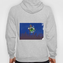 Maine State Flag with Audience Hoody