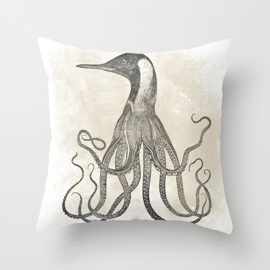 The Octo-Loon Throw Pillow