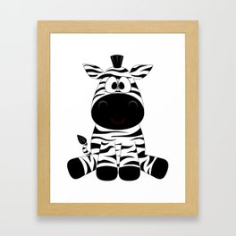 Sitting Zebra Framed Art Print