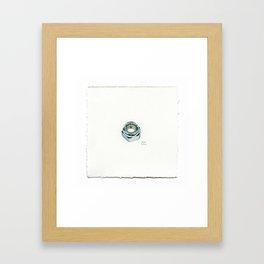 8mm Axle Nut - Drawing #58 Framed Art Print