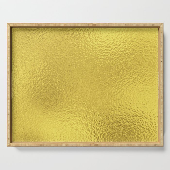 Simply Metallic in Yellow Gold Serving Tray
