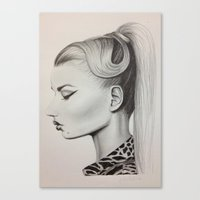 iggy azalea Canvas Prints featuring Iggy Azalea by Julia Martínez