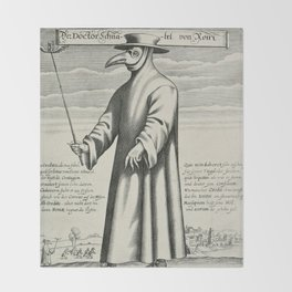 Plague Doctor Throw Blanket