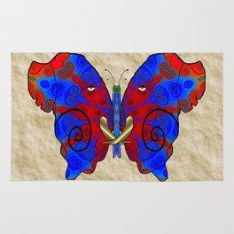 Nautilus Elephant Butterfly Rug