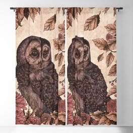 Tawny Owl Pink Blackout Curtain