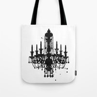 chandelier Tote Bags featuring Chandelier by Steven Womack