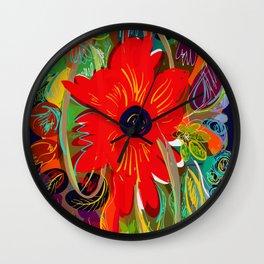 Beautiful flower art pattern decorative Wall Clock