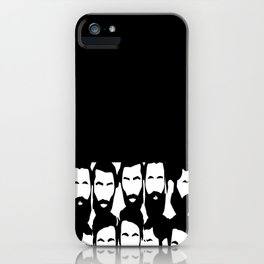 black n white beard iPhone Case
