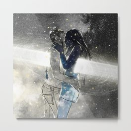 Deepest touch of souls. Metal Print