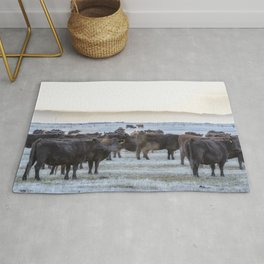 Good Morning Cows Rug
