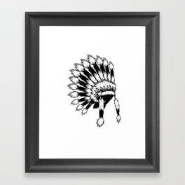 Indian Chief Framed Art Print