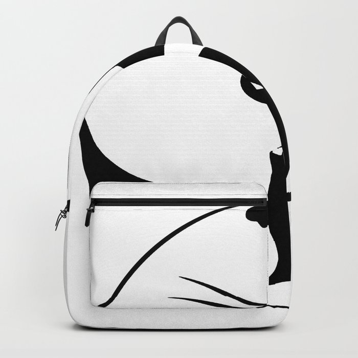 black and white cat yinyang Backpack