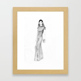 Anne Hathaway at the Met Ball 2015 Framed Art Print