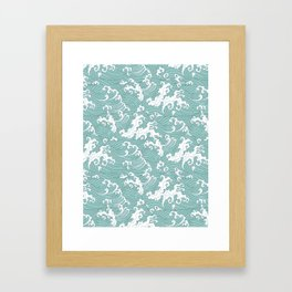 Traditional Hand Drawn Japanese Wave Ink Framed Art Print