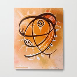 The Orange thing that I saw in a dream Metal Print