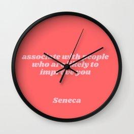 seneca quote Wall Clock