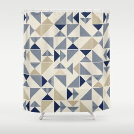 Zigzag Triangles Shower Curtain