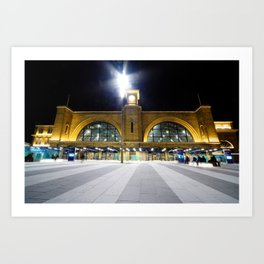 Only last night, found myself lost, by the station called Kings Cross Art Print