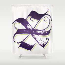 Letter X Shower Curtain