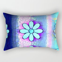 Turquoise flowers Rectangular Pillow