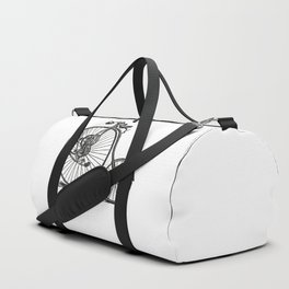 Old bicycle Duffle Bag