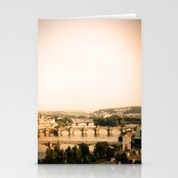 prague Stationery Cards featuring Prague by rebecca lilianne wichmann