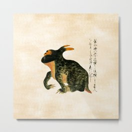 Toad From the Sea Near Pusan - Kaikidan Ektoba Monster Scroll Metal Print